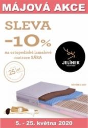 Májová akce10% sleva na zdravotní ortopedické lamelové matrace Sára klasik, Spirit, komfort od firmy JELÍNEK v HANY nábytek matrace HK JC OD DON Hradec Králové a Jičín